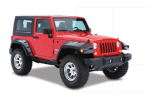 Bushwacker Extended Coverage Pocket Style Fender Flare Rear Pair - JK