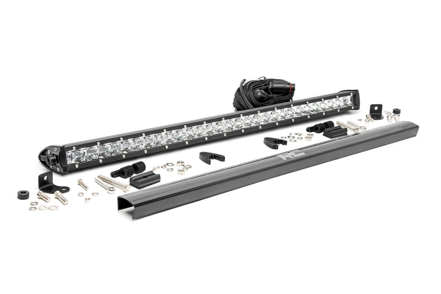 Rough Country 30in Chrome Series Single Row Light Bar (Part Number:70730)
