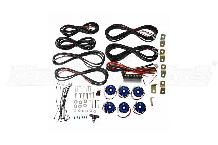 KC Hilites Cyclone 6-Light LED Rock Light Kit - Blue