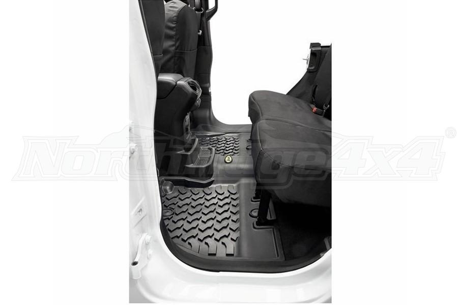 Bestop Rear Floor Mats - Black - JL 4dr