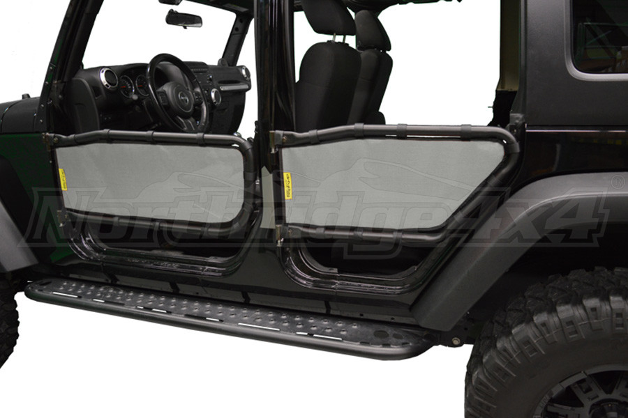Dirty Dog 4x4 Olympic Tube Door Screen Front & Rear, Grey - JK 4DR