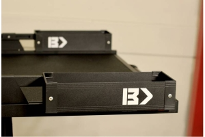 BedSlide BedBins Mini Kix, Black - 7in x 18in