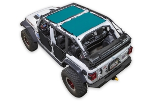 SpiderWebShade Front and Rear 2-Piece Shade Top - Teal - JL 4Dr