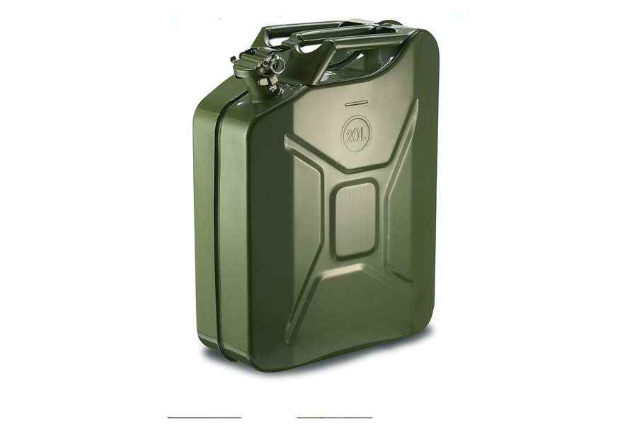 Rugged Ridge Metal Jerry Can 20L Green (Part Number:17722.30)