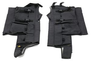Bestop Black Diamond Element Door Storage Bags Black - LJ/TJ/YJ