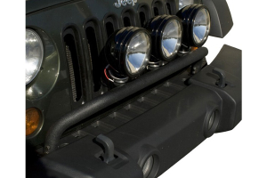 Rugged Ridge Bumper Mounted Light Bar Textured Black  (Part Number: )