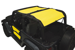 Dirty Dog 4x4 Sun Screen Rear Only Yellow (Part Number: )