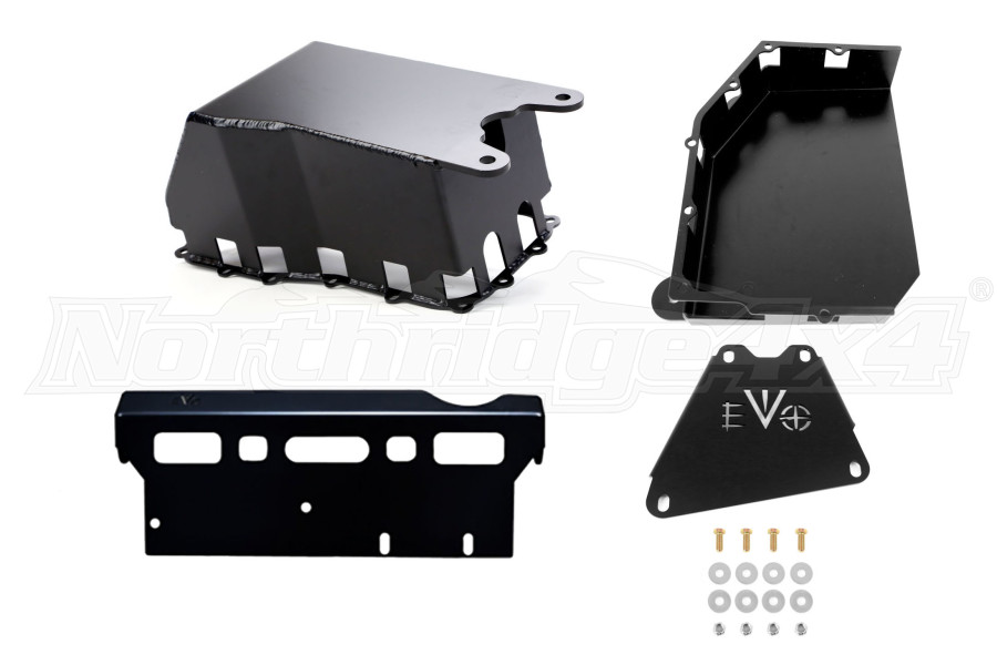 EVO Manufacturing ProTek Skid Plate System Auto Transmission w/Long Arm Kit JK 2007-11