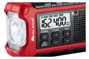 Midland E+Ready Compact Emergency Crank Radio w/ AM/FM Weather Alert
