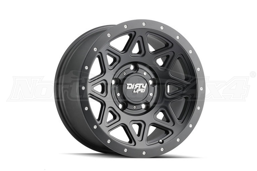 Wheel-1 Dirty Life 9305 Theory Series Non-Beadlock Wheel, Matte Black 20X9 5x5  (Part Number:9305-2973MB)