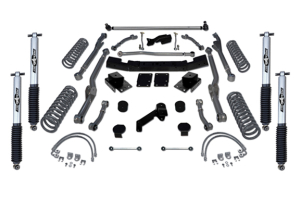 Rubicon Express 3.5in Extreme Duty Long Arm Lift, Kit Mono Tube Shocks (Part Number: )
