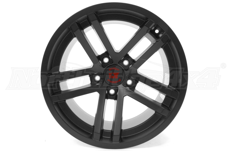 Rugged Ridge Jesse Spade Wheel Black Satin 17x9 5x5 (Part Number:15303.90)