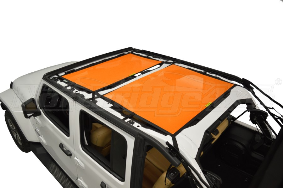 Dirty Dog 4x4 Sun Screen Front and Rear - Orange (Part Number:JL4S18F2OR)