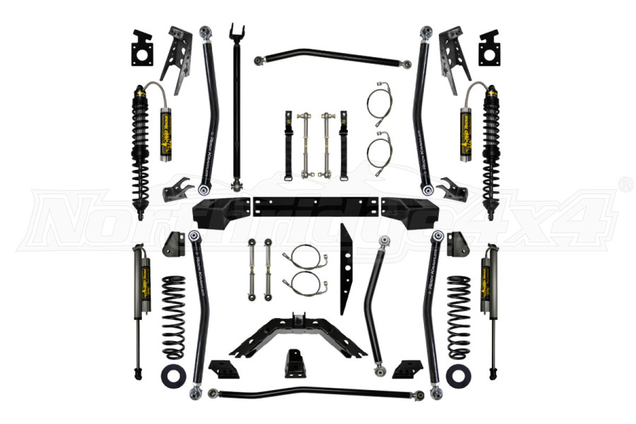 Rock Krawler 3 1/2in X Factor Coil Over Long Arm System, Stage 2 -JK4DR ( Part Number: JKCOMP35-4S2LIFTKIT)