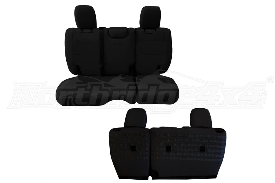 BARTACT Seat Cover Rear Black/Black (Part Number:JLSC2018R4BB)