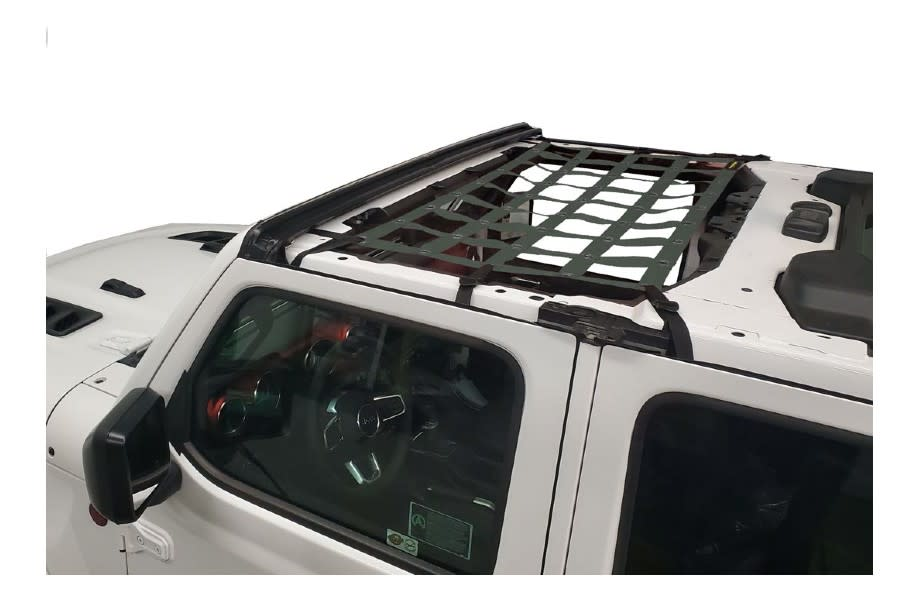 Dirty Dog 4x4 Front Seat Netting-Olive Green - JT