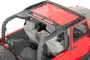Dirty Dog 4x4 Front Seat Sun Screen Red (Part Number: )