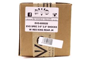 Evo Manufacturing Spec King 2.5 Reservoir Rear Shocks 3-5in Lift - JK