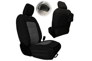 Bartact Tactical Series Front Seat Covers, SRS Air Bag and Non-Compliant - Black/Graphite - JL 2Dr