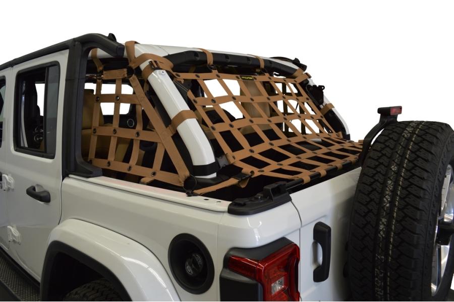Dirty Dog 4x4 3pc Cargo Side Netting Kit, Sand - JL 4Dr