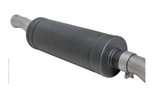 AFE Power Rebel Series 2.5in Dual Cat-Back Exhaust System, Black Tip - JL 4Dr 3.6L