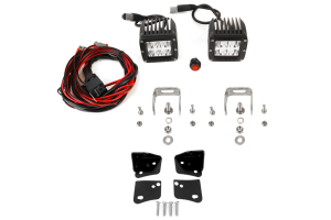 Rigid Industries D2 LED Wide Lights and Lower A-Pillar Light Mounts Kit ( Part Number: 45-28-RDA-50211-KIT)