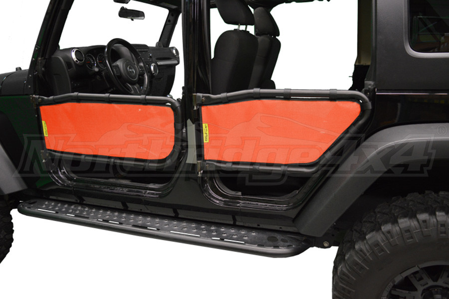 Dirty Dog 4x4 Olympic Tube Door Screen Front & Rear, Orange (Part Number:J4TS07OYOR)