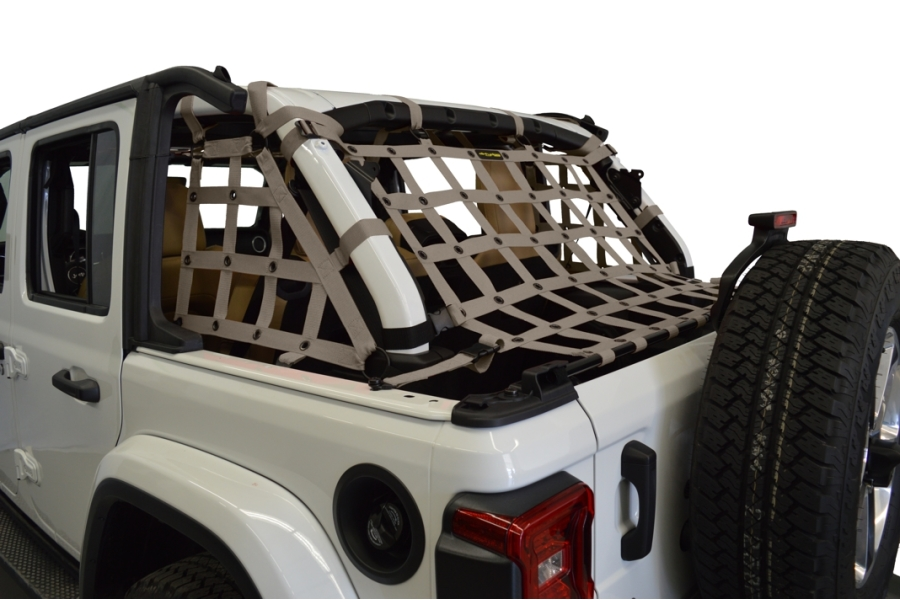 Dirty Dog 4x4 3pc Cargo Side Netting Kit, Grey - JL 4Dr