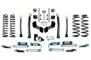 Evo Manufacturing 4.5in Enforcer Overland Stage 3 Lift Kit w/ Comp Adjuster Shocks - JL Diesel