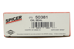 Dana Spicer Outer Axle Spindle Seal (Part Number: )