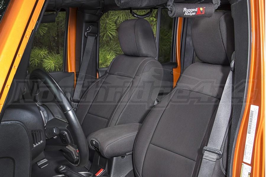Rugged Ridge Seat Cover Kit Black (Part Number:13294.01)