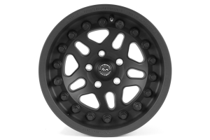 Hutchinson Rock Monster Beadlock Wheel w/Black Caps Matte Black 17x8.5 ( Part Number: WA-0594-017-01)