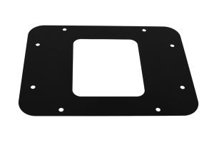 Kentrol BackSide License Plate Mount w/ LEDs - Textured Black  - JK 2007-09