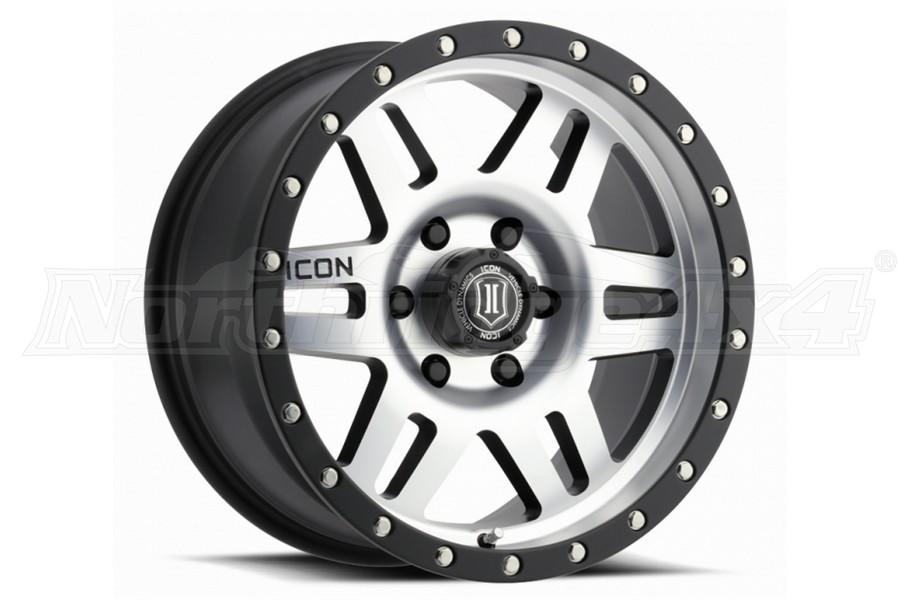 ICON Vehicle Dynamics Six Speed Wheel Satin Black Machined, 17X8.5 5x5 - JT/JL/JK