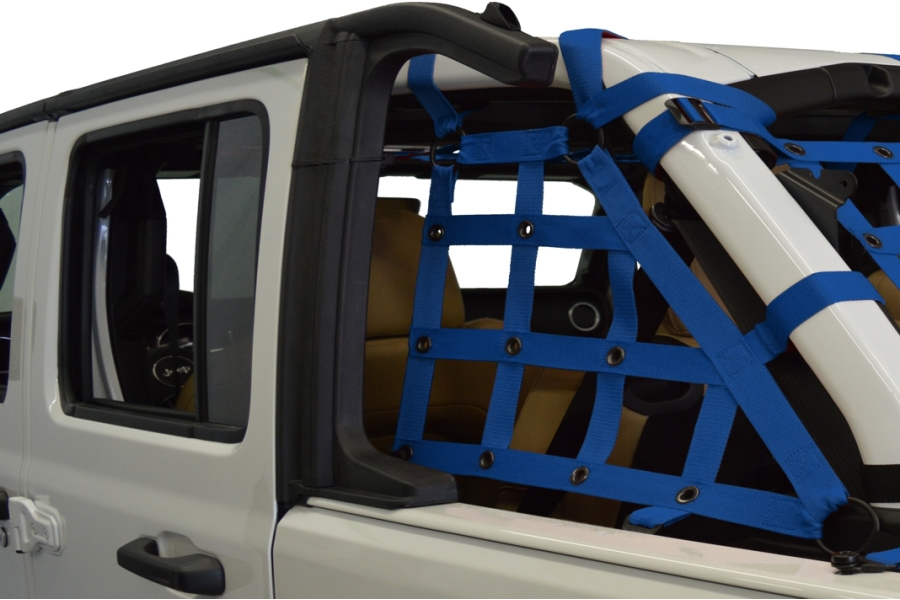 Dirty Dog 4x4 2pc Cargo side only Netting Kit, Blue - JL 4Dr
