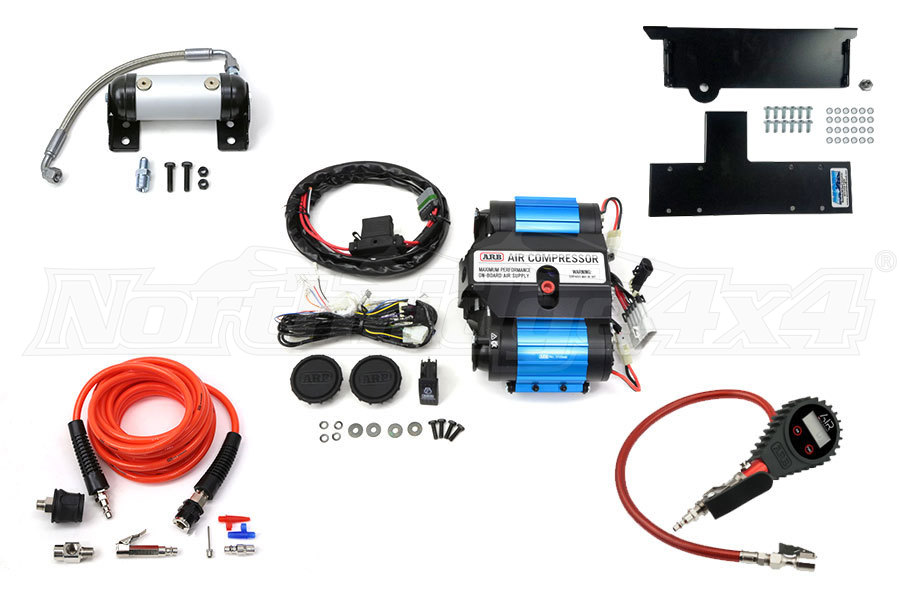 ARB Twin Air Compressor, Compressor Mount, Tire Pump and ARB Manifold Package - JL 4dr