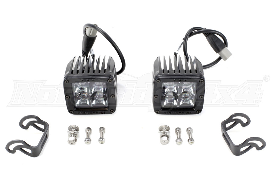 Rigid Industries D-Series Midnight Edition Lights Spot, Pair (Part Number:202213BLK)