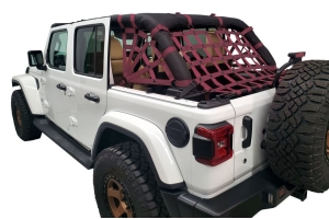 Dirty Dog 4x4 Netting Kit Spider Sides 3pc Maroon - JL 4dr