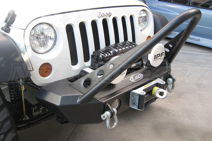 LOD Signature Series Shorty Front Bumper w/Stinger and Zeon Winch Mount Bare Steel (Part Number:JFB0762)