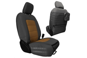 Bartact Tactical Front Seat Covers Graphite/Coyote - JL 4dr