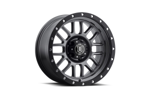 Icon Vehicle Dynamics Alpha Gunmetal with Black Ring Wheel - JT/JL/JK