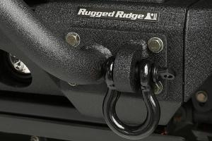 Rugged Ridge D-Ring, 7/8-Inch, 13500 Pound, Black