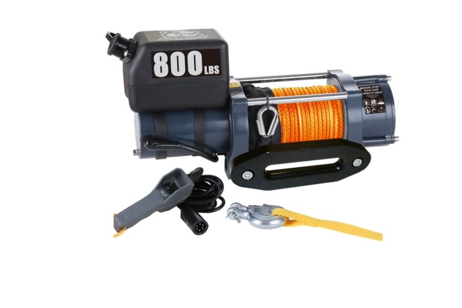 Bulldog Winch800LB Winch w/ 50 ft Synthetic Rope