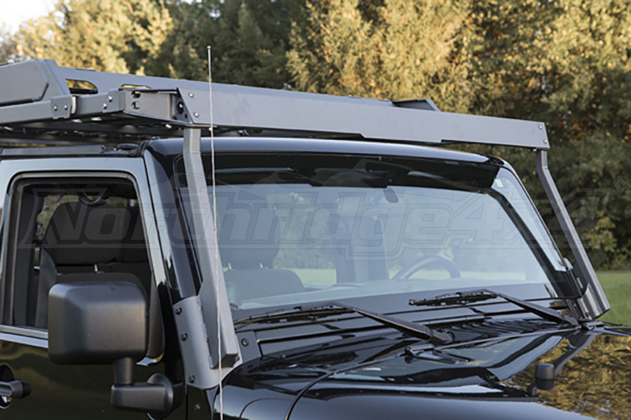 Jeep Jk 4dr Lod Sliding Roof Rack Air Deflector Bare Steel