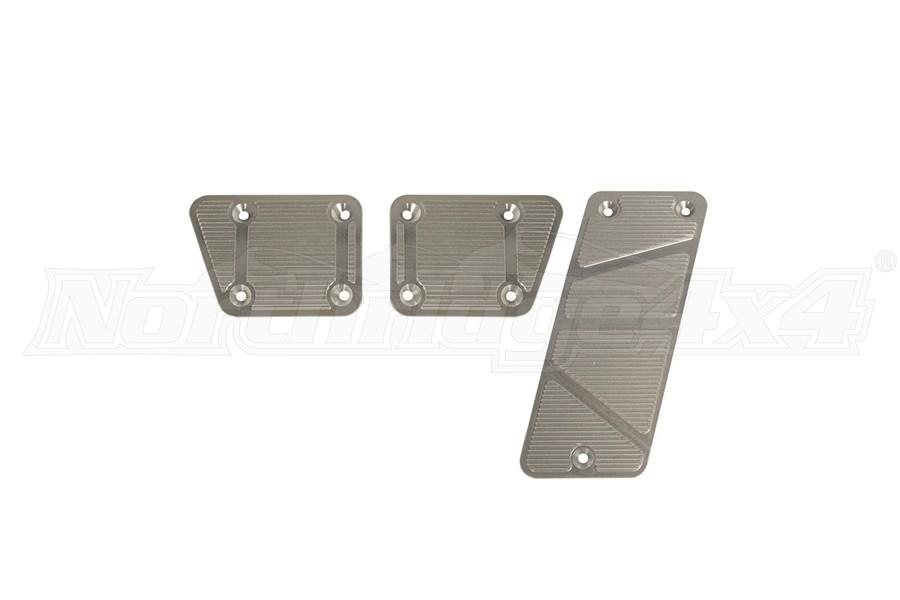 DV8 Offroad Aluminum Pedal Covers, Manual - 3 pc - JK 2007-13