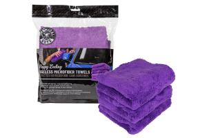 Chemical Guys Happy Ending Edgeless Microfiber Towels Purple - 3 Pack