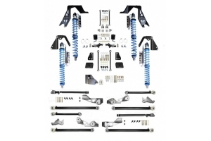 EVO Manufacturing High Clearance PRO Long Arm Coilover Kit w/ Compression Adjusters, Black (Part Number: )