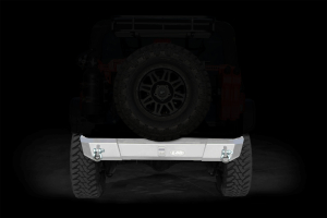 LOD Signature Series Shorty Rear Bumper w/out Light Cutouts Bare Steel (Part Number: )
