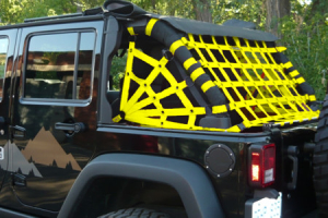 Dirty Dog 4x4 Spider Netting Rear Yellow - JK 4dr
