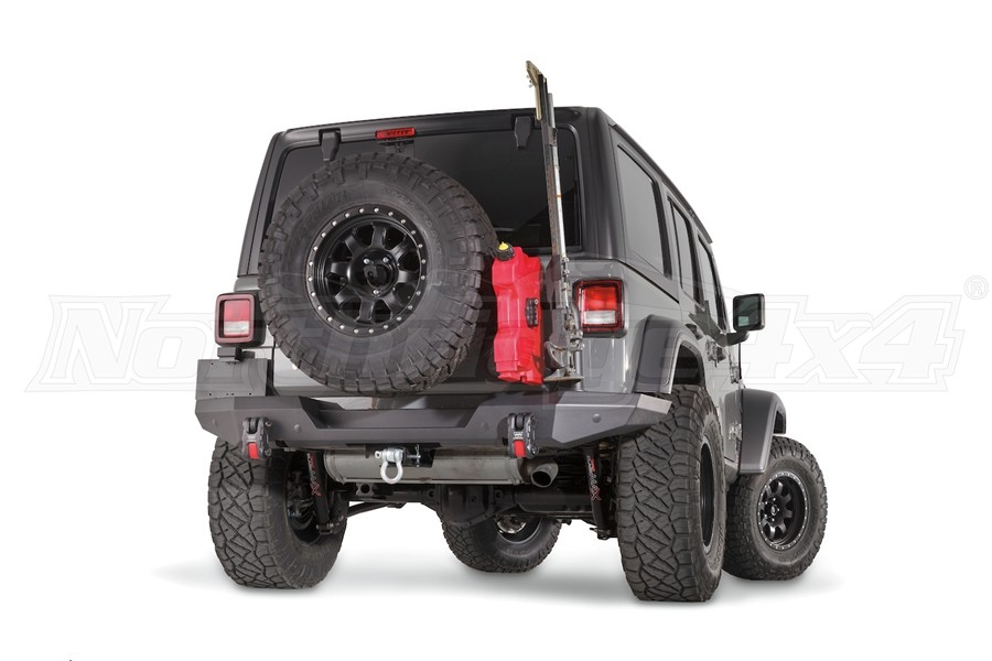 Warn Elite Series Rear Bumper - Tire Carrier Compatible - JL
